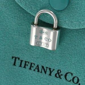 Tiffany 1837 Blue Enamel Padlock Charm Pendant